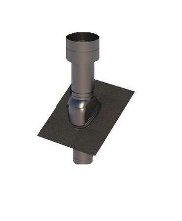 Obrázek Střešní potrubní systém  35-55°/125 černý plastový