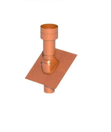 Obrázek Střešní potrubní systém  25-45°/125 červený plastový
